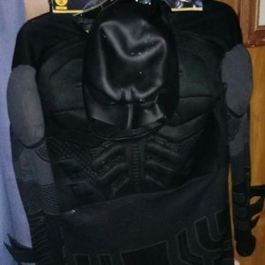 Batman Halloween costume with rubber mask. Large